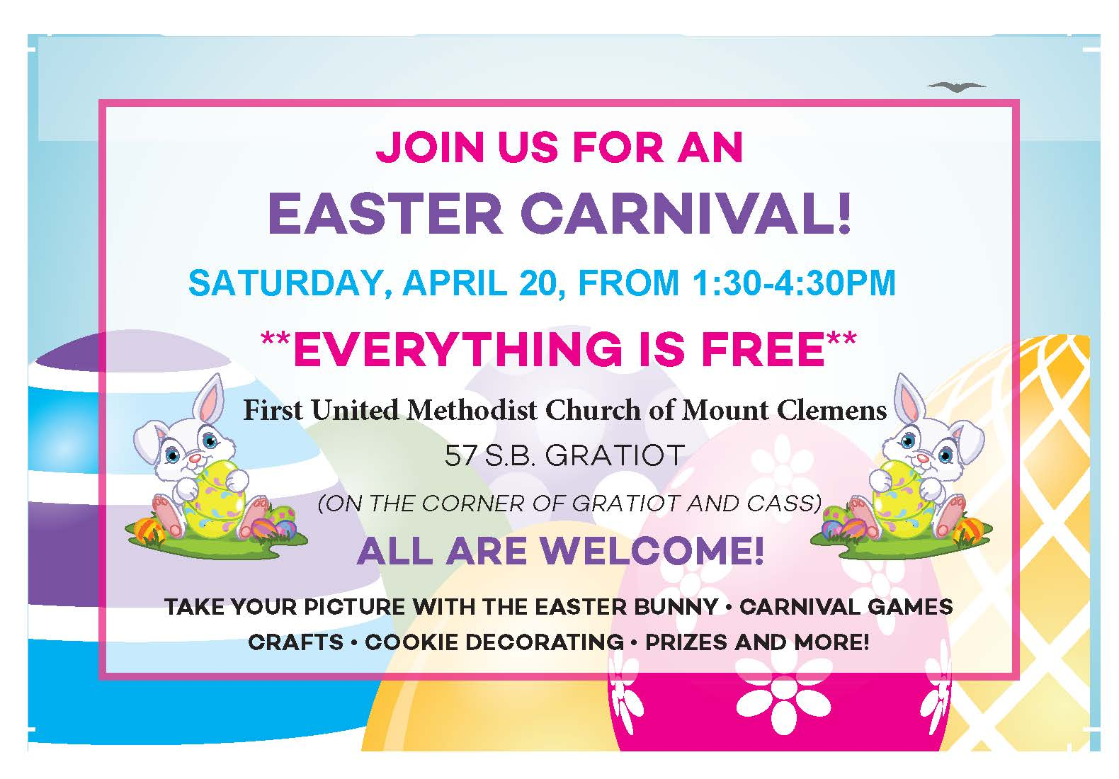 Easter Carnival Post Card-POSTER-2019